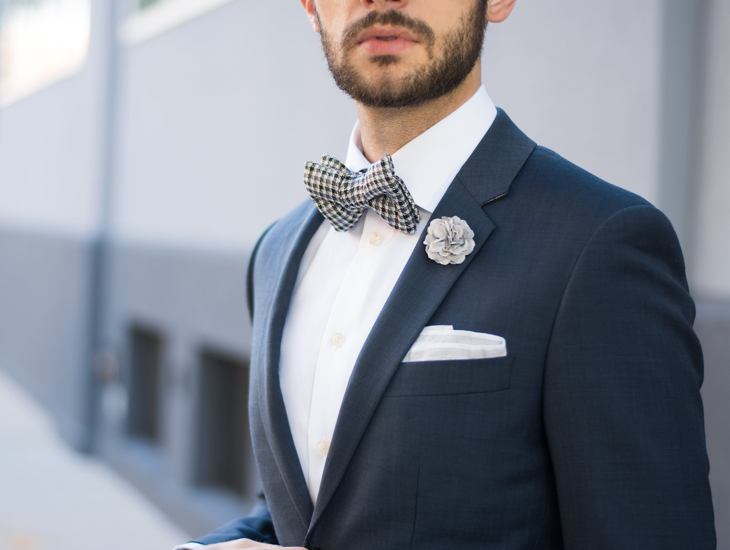 d4840dd63549 How To Style a Bow Tie For A Wedding — The Modern Otter