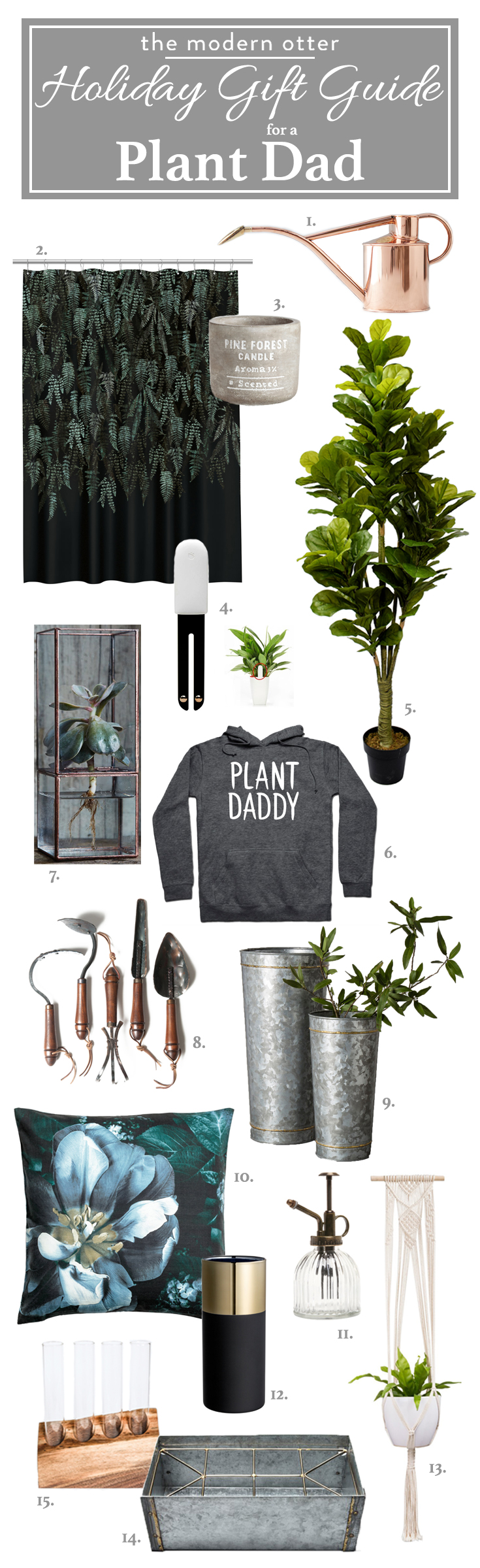 The Modern Otter Holiday Gift Guide for A Plant Dad