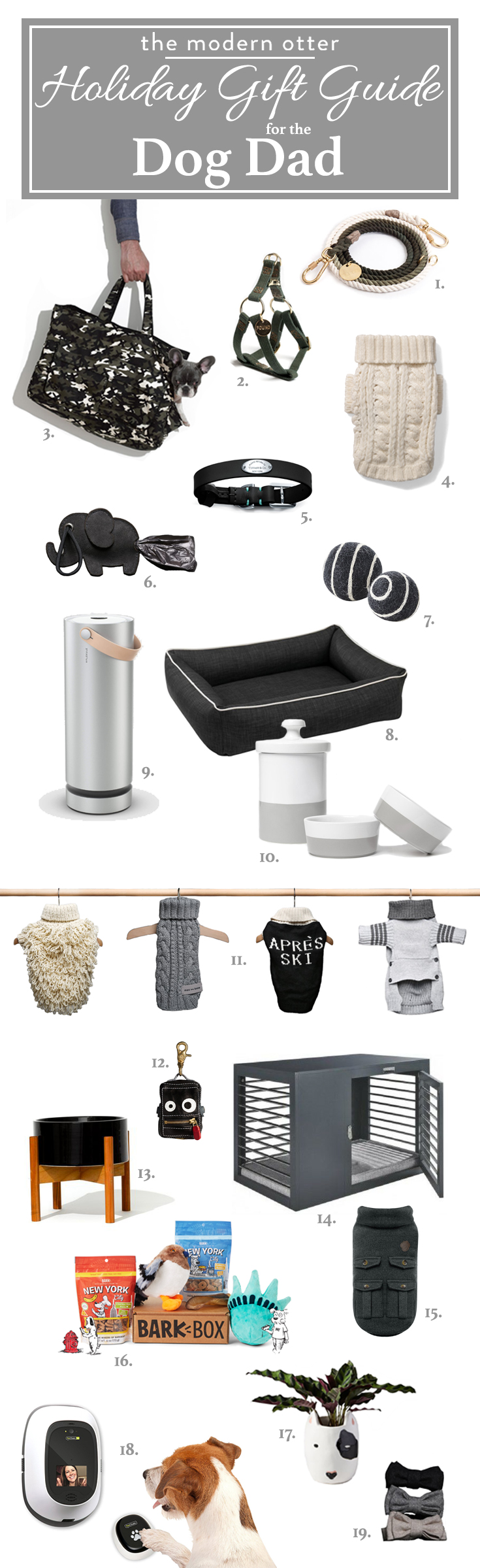 The Modern Otter Holiday Gift Guide for the Dog Dad