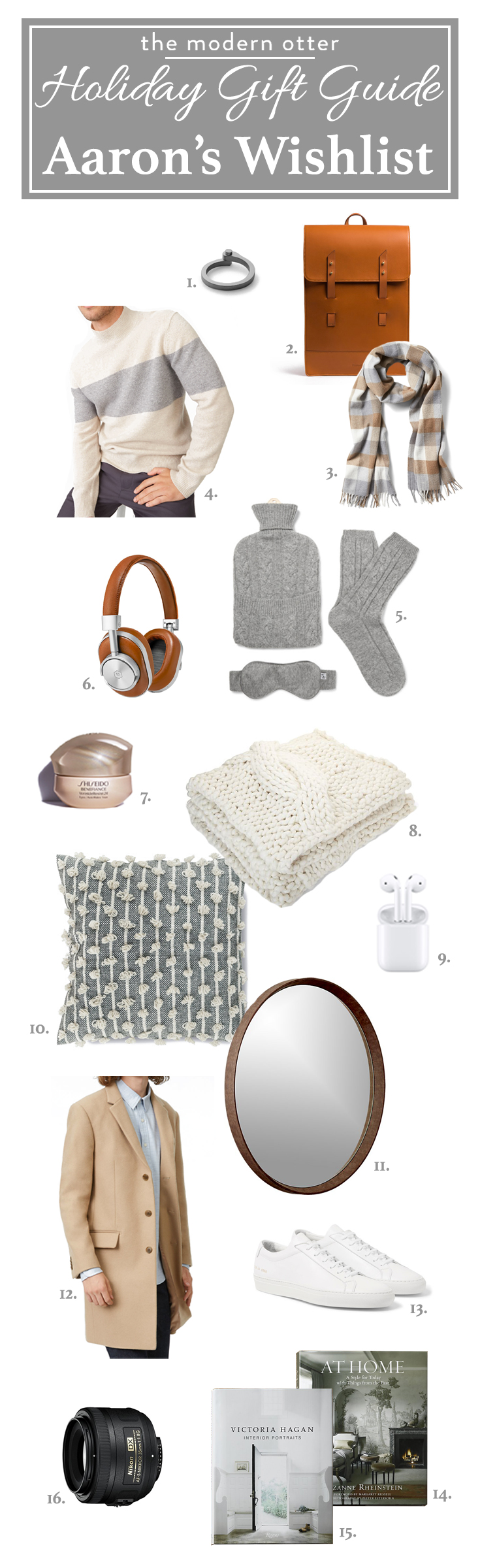 The Modern Otter Holiday Gift Guide: Aaron's Wishlist