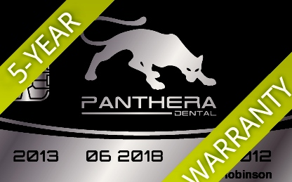 Panther Warranty Card