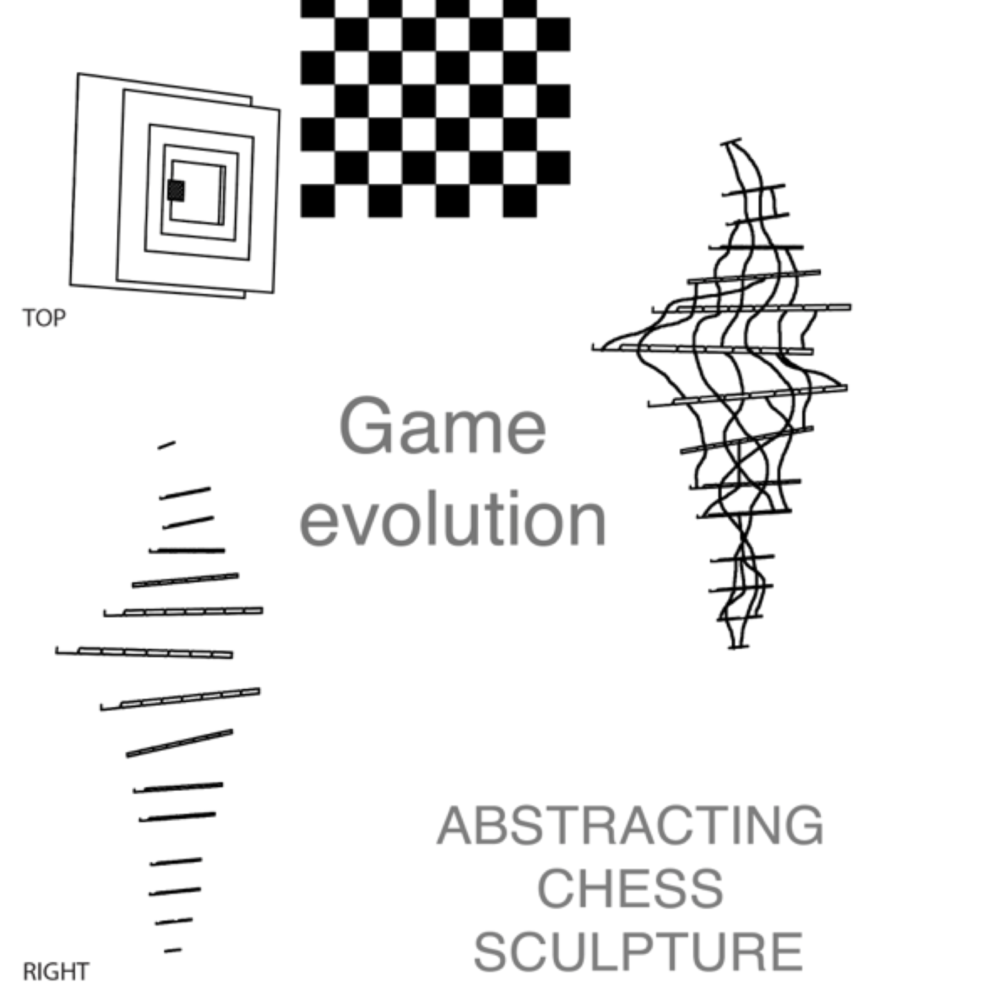 Abstract Chess Sculptures