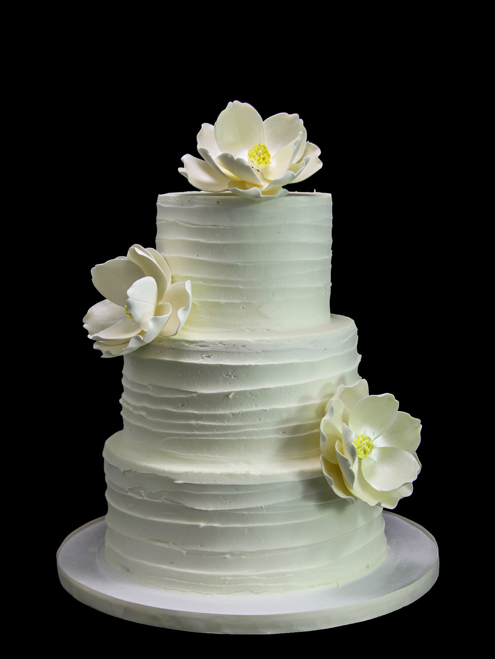 Magnolias Horizontal Old Wedding Cake.jpg