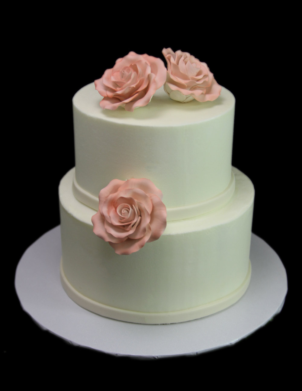Roses Small Wedding Cake.jpg