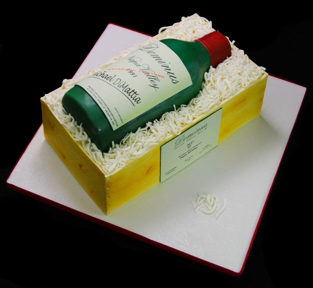 Dominus Red Wine Bottle & Crate Cake.jpg
