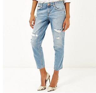 River Island Destroyed Girlfriend Jeans