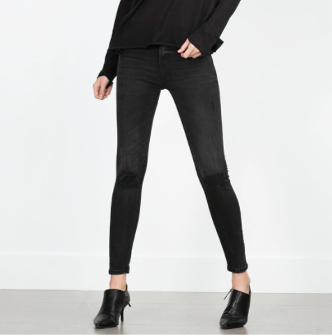 ZaraRipped Skinny Jeans