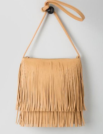 Francesca's Fringe Crossbody Bag