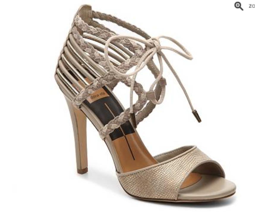 Tie-Front Metallic Heel by Dolce Vita