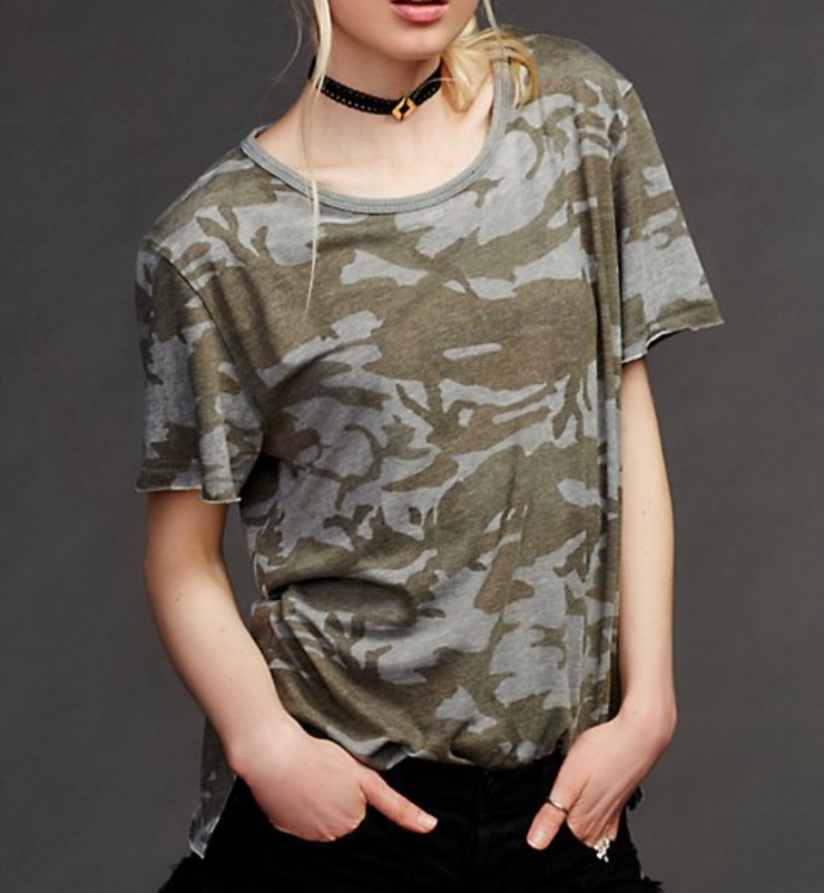 Free People Army T-shirt