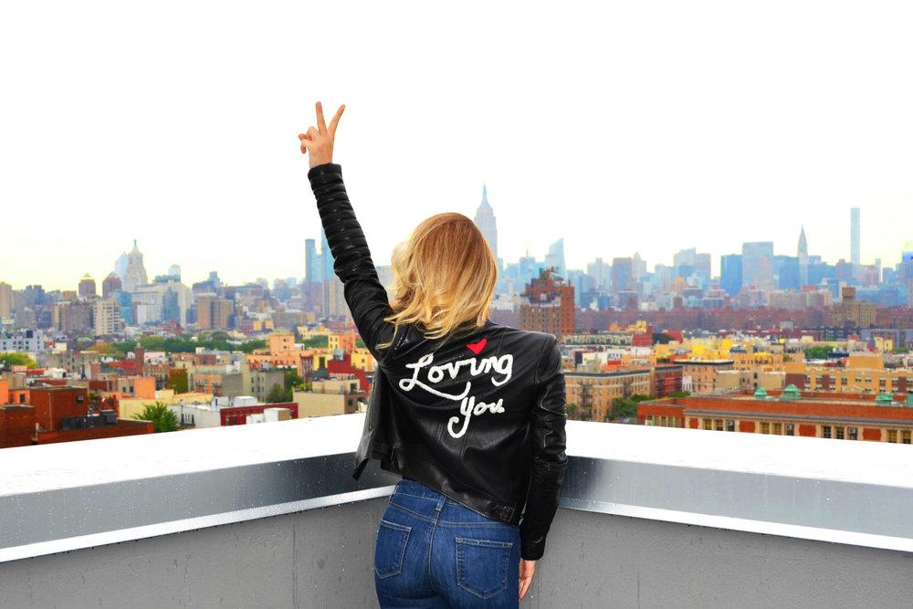 Featuring:  Alice + Olivia Leather Moto Jacket  //  Paige Skinny Jeans  //  Veeshee Mudcloth Fringe Clutch  //  Steve Madden Fringe Pumps