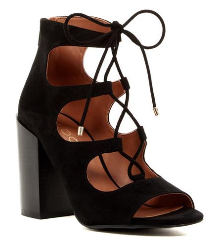 Aldo Black Lace-Up Sandal
