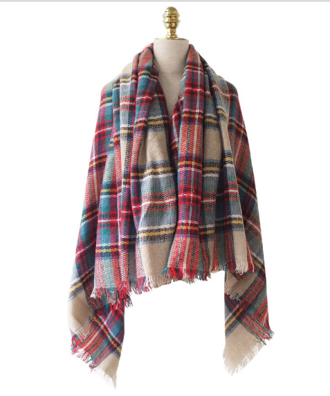 Goodnight Macaroon Plaid Scarf