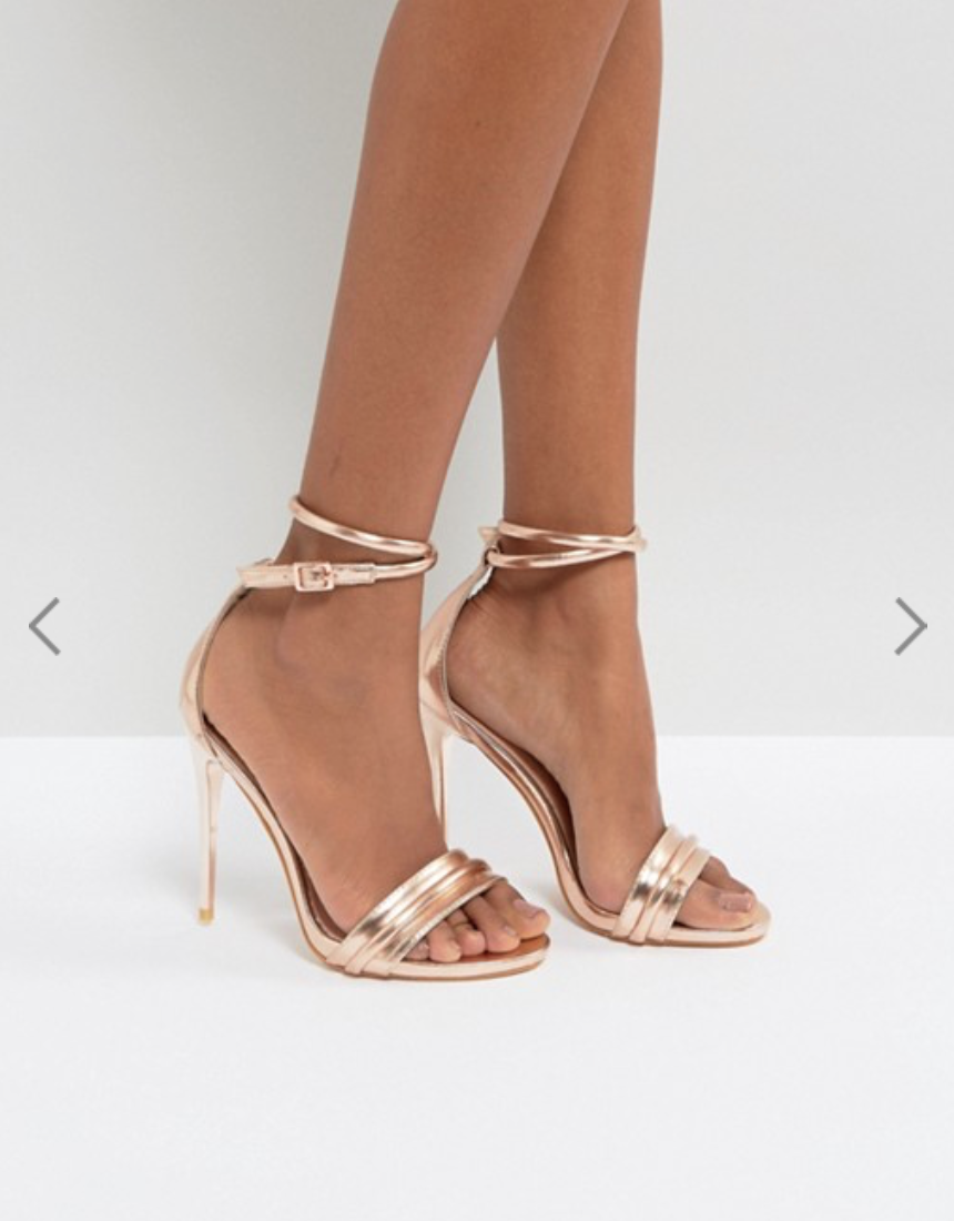 ASOS Rose Gold Heels $60.00