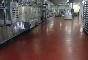 Polyurethane-modified concrete floor topping