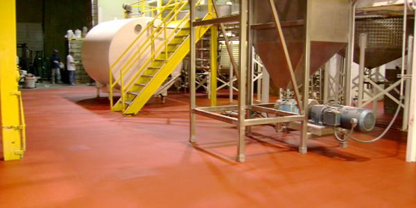 Over 22,000 square-feet of USDA Approved Food-Grade Flooring from T.W. Hicks, Inc. in Denton, Texas!