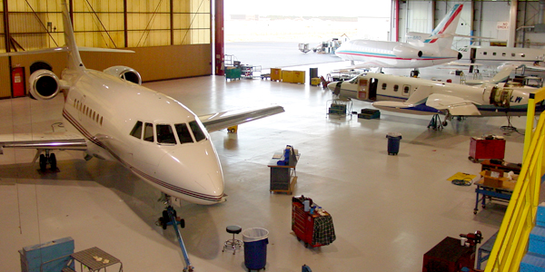 T.W. Hicks, Inc. provides aviation flooring solutions for your hangar floor needs!