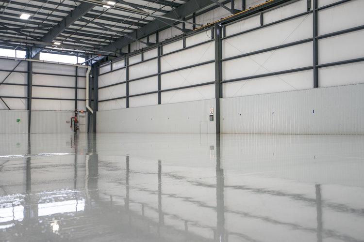 Beautiful hangar floors at Million Air Hangars!