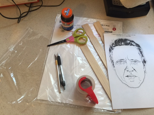 supplies needed to make christopher walken mask elemers glue