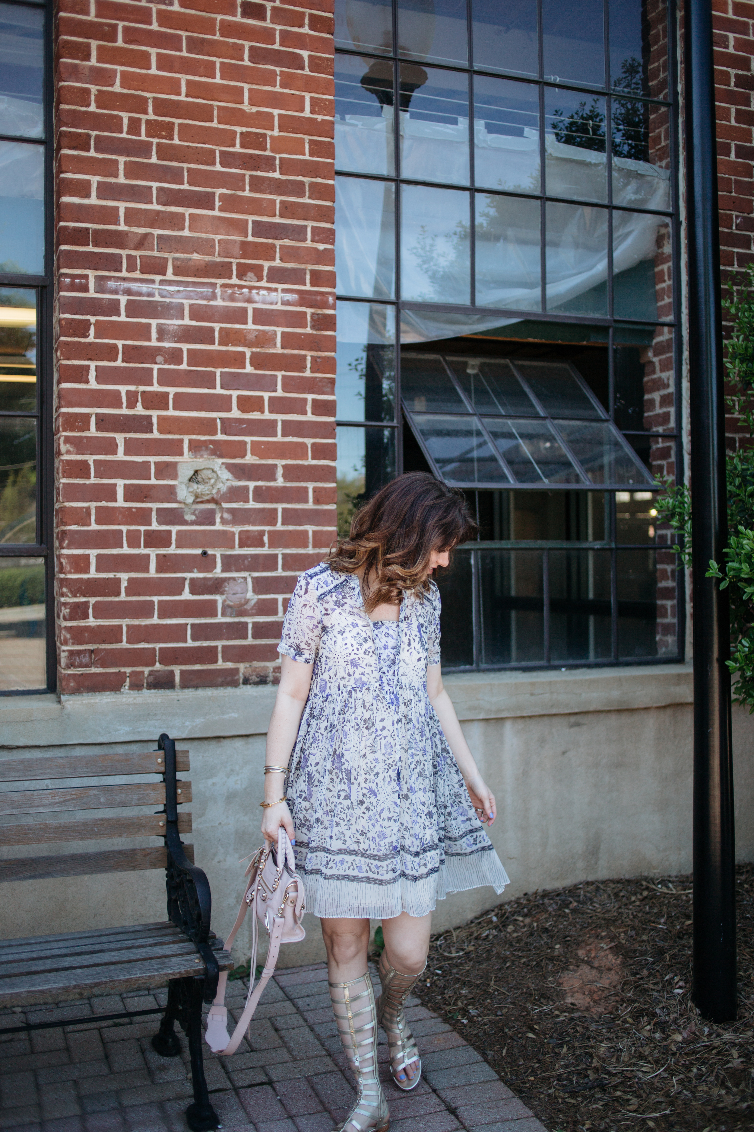 blue and white anthropologie maeve dress