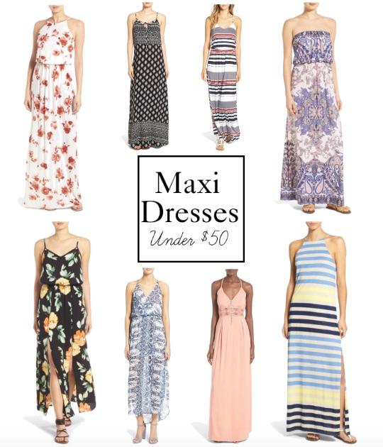 Maxi Dresses Under $50 || www.PolishedClosets.com