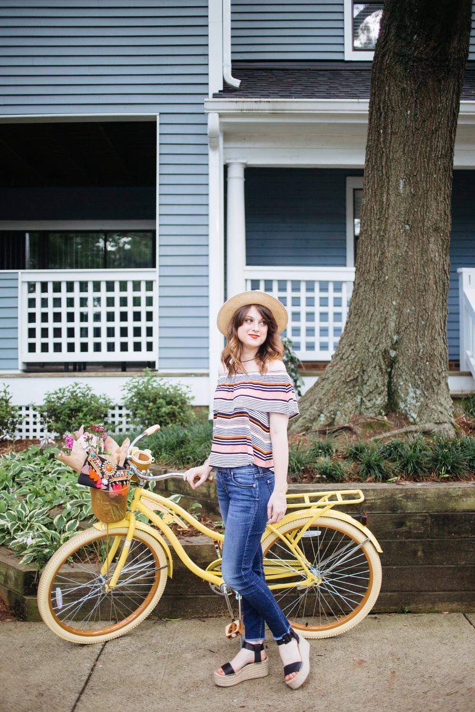 Huffy Yellow Bike || @polishedclosets