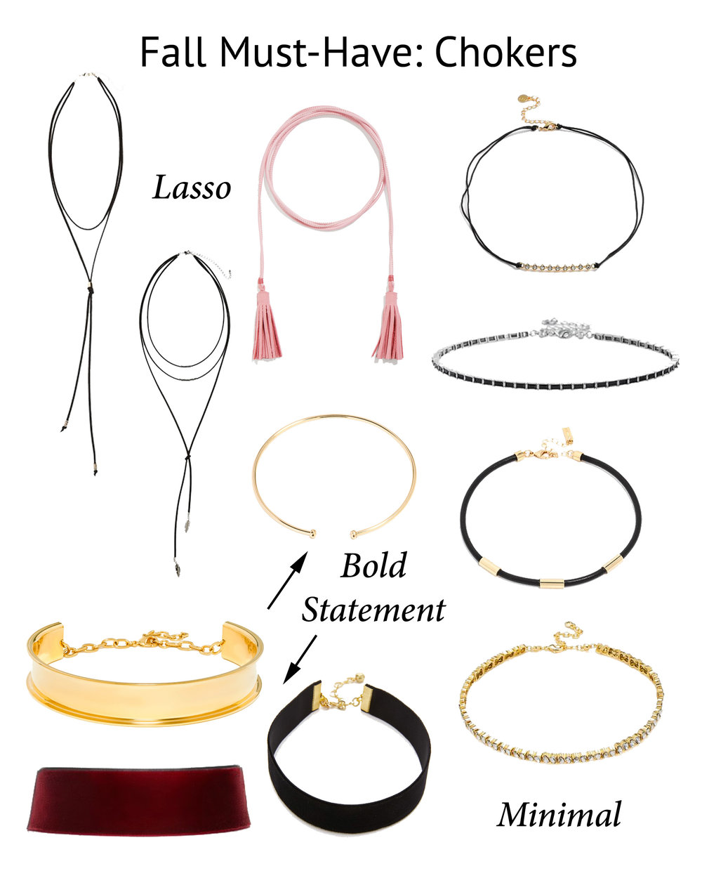 must have chokers for fall // www.polishedclosets.com