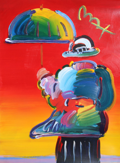 The umbrella man, peter max