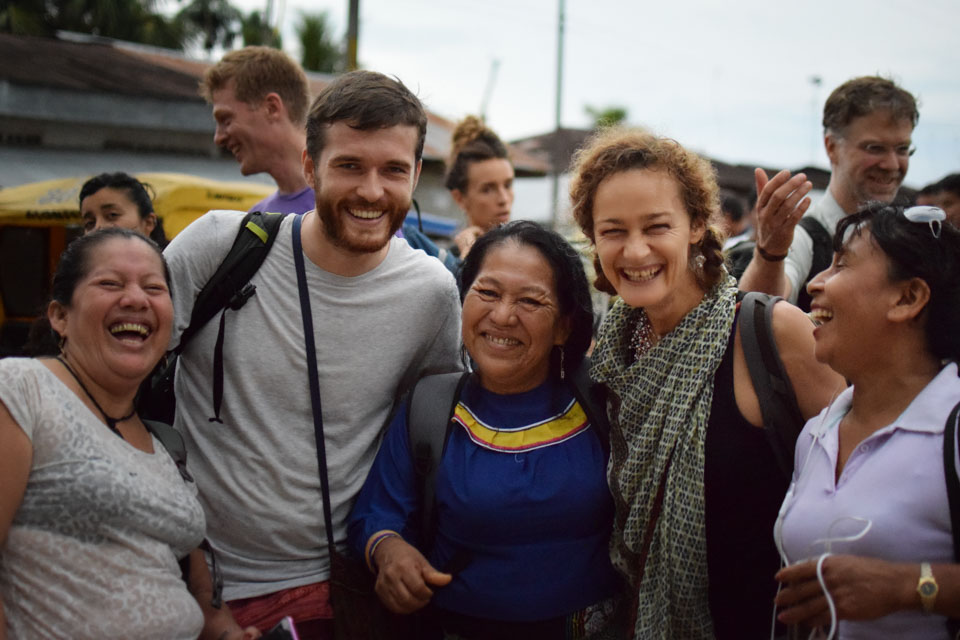 Chaikuni team members and Shipibo maestras
