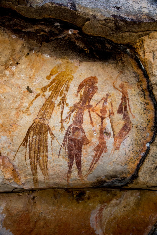 Guyon figures at Munurru site, Mitchell Plateau