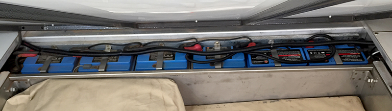 6 x 42 Ah Lithium batteries
