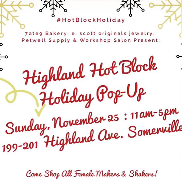 THIS WEEKEND!! You can find me all around Somerville. First, on Saturday, I'll be at @bow.market for #smallbusinesssaturday. On Sunday I'll be back at #highlandhotblock for our second annual pop up shop!!!