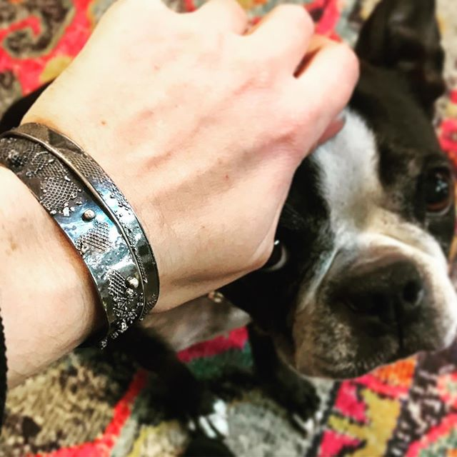 These mesh cuffs and more will be at @theindo tomorrow during the union square holiday stroll!! Mayble is already missing me.... 😉
