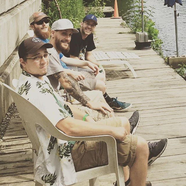 Chillin before our set at Wavelength Festival 7/8/2017 #earthdiver #jamband #itsgoingtobeagoodday #bandofbrothers