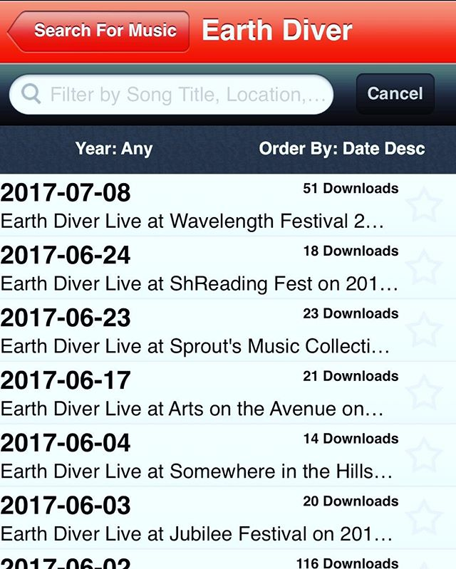 Jump on Archive.org and getting our@most recent shows at your finger tips!!!! #earthdiver #jamband #archive #liverecording