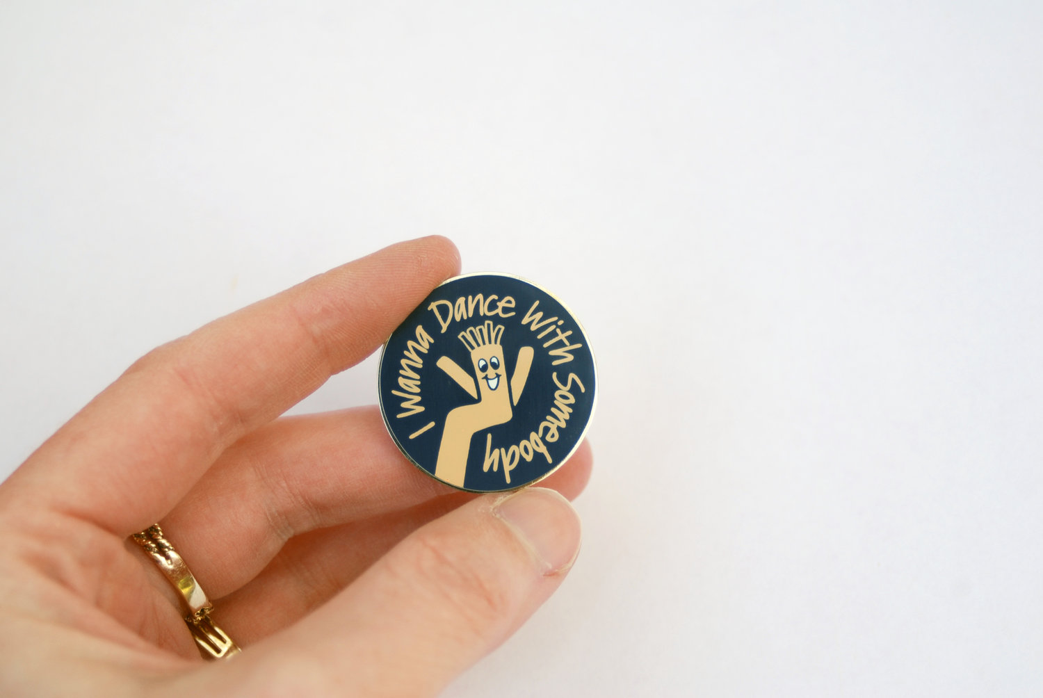 I Wanna Dance with Somebody Sky Dancer Enamel Lapel Pin — Bang-Up Betty