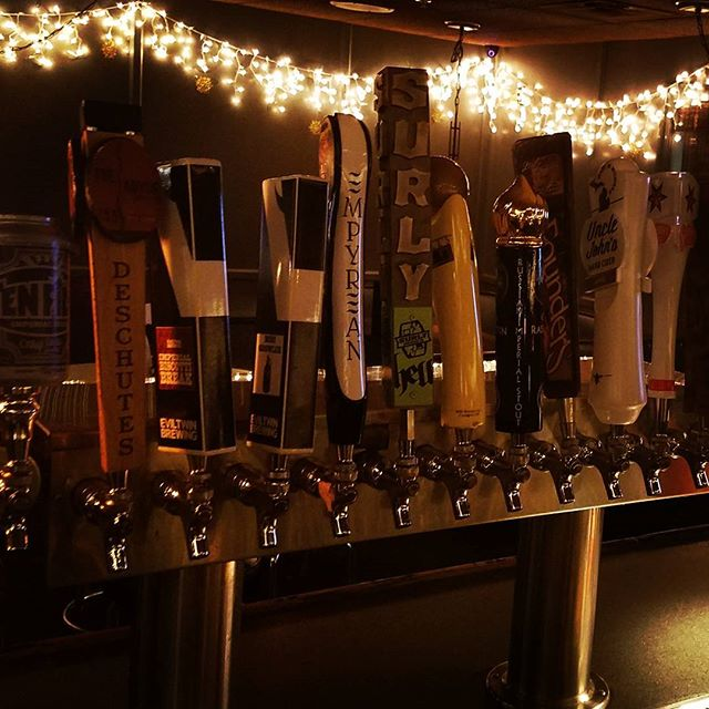 Happy Holidays! Stop in for a pint of #craftbeer during #happyhour 3:30 to 6:30 and 9pm to close. #mncraftbeer #imperialstout #lowertownstpaul
