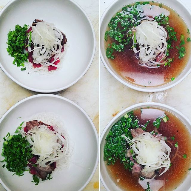 Before and after photos. #pho #porkbelly #vietnamesefood #lowertownstpaul