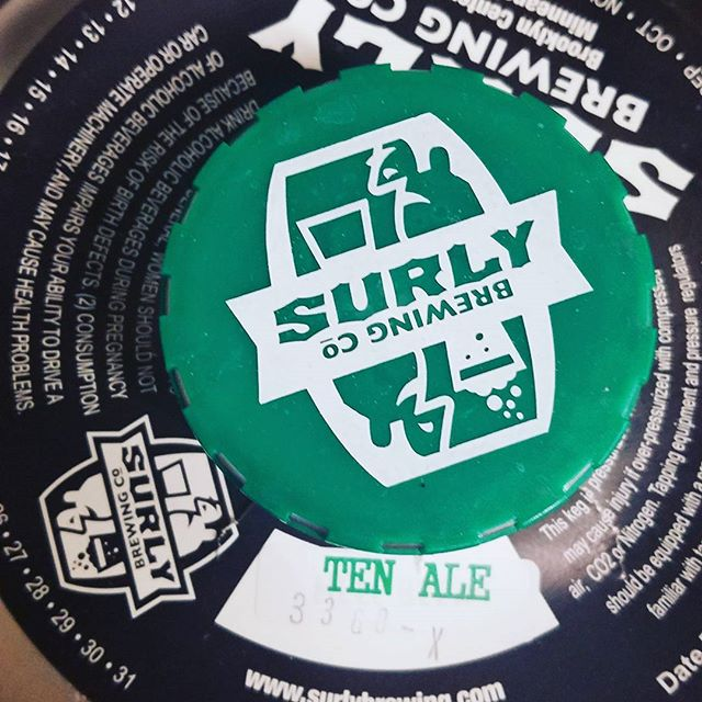 Thirsty? Tapping this guy tonight for #nye. @surlybrewing