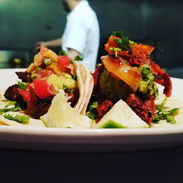 Our #tacos are always on #happyhour.  #vegan #vegetarian #barbacoa #carnitas