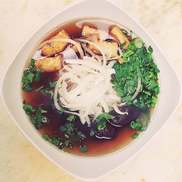 Stop in and enjoy a our #vegan #pho or, for a healthier option, ask for the vegan stock with the traditional toppings. #vegetarian #healthyfood #vietnamesefood #comfortfood #lowertownstpaul