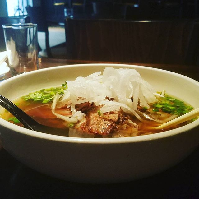 Try our dry-rubbed brisket #pho with our new mushroom broth for a healthier alternative to the traditional beef broth. #vietnamesefood #healthyfood #lowertownstpaul