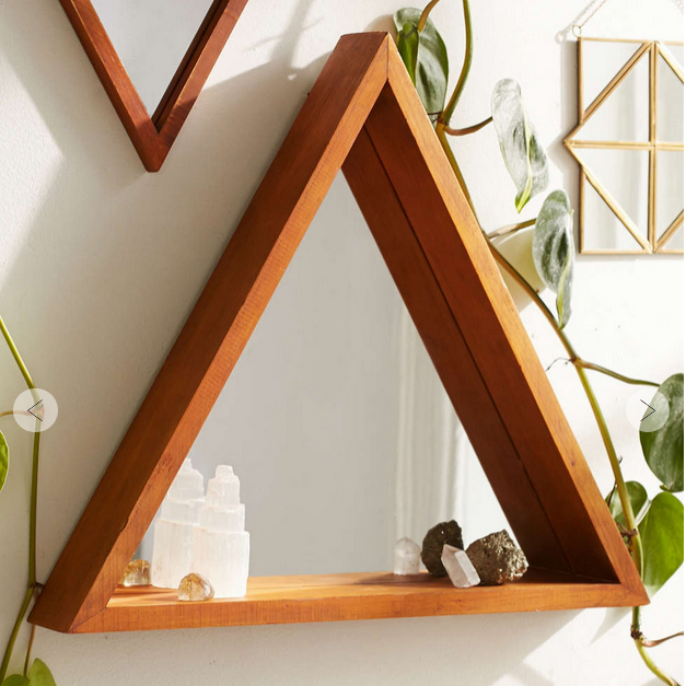 Pyramid mirror by Urban Outfitters