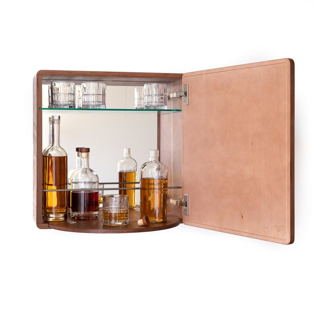 Wall mounted liquor bar cabinet
