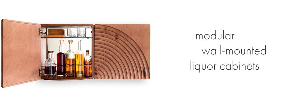 KARVD Wall-Mounted Liquor Bar Cabinet