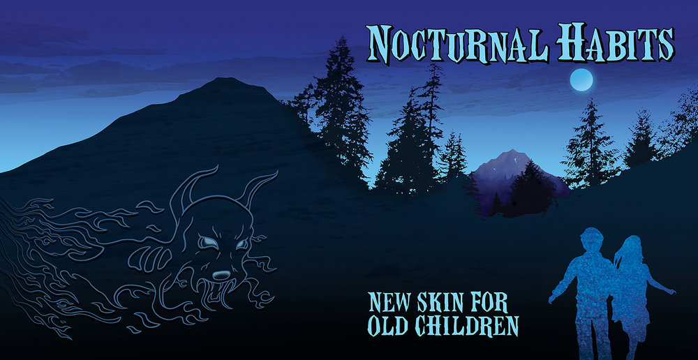 "Nocturnal Habits ""New Skin For Old Children"" Out now on Glacial Pace: http://store.glacialpace.com/collections/new-items/products/nocturnal-habits-new-skin-for-old-children ""Nocturnal Habits marks a return for influential guitarist/vocalist Justin Trosper. His work in the seminal post hardcore band Unwound and more recently the angular rock of Survival Knife are evident in the overall sound of New Skin For Old Children, however there is a new tone, focused more sharply on the songwriting and production. The angles have been softened to create crushing, blunt force blows rather than sharp cuts.   Recorded throughout the world from Italy to Los Angeles and the backwoods of the Northwest New Skin For Old Children reunites Trosper with Sara Lund, his Unwound collaborator and so called ""secret weapon,"" as well as Dale Crover (Melvins), Sherry Fraser, and Scott Seckington (Two Ton Boa).   The first track ""Echophilia"" turns a clever trick introducing Trosper's recognizable voice but pairing it with Fraser's vocal mimickery. The effect is a sonic depth deeper than previously explored that immediately resonates with past fans and simultaneously forces the recognition of an entirely new voice.  On the frenetic ""Good Grief"" you're assaulted by a horror movie piano melody before being kicked in the teeth by Trosper's love for the old fashioned distorted guitar turned to 11. Again matched with Fraser's haunting voice, the pummeling is never too much. The correct timing of an aural assault is something you can only learn over time standing in front of your own amp feeling the pain.   The deconstruction and experimentalism that have been the foundations for much of Trosper's artistic output are evident but maturation sets the tone throughout. The breakdown yelps and screams of ""Ice Islands"" are there but you're going to need to meander through a wash of cymbals and droning guitar to hear it. It won't disappoint when you arrive! Trosper handles the bulk of the writing duties which allowed him the time and space to explore a multitude of instruments and recording methods. New Skin For Old Children employs synths old and new, acoustic and electronic strings, traditional drums, bass and guitars, ambient noise, and a multitude of voices giving each song a unique texture. The tune ""Dog Meets Wolf"" exemplifies the new methodology. Uniting the operatic voice of Anna Huff with everything from piano, keyboards, the plaintive barks of dog, cello, and Crover's pounding rhythm, the whole piece moves along dissonantly but steadily and drops you right back at the beginning for a safe landing no worse for wear."""