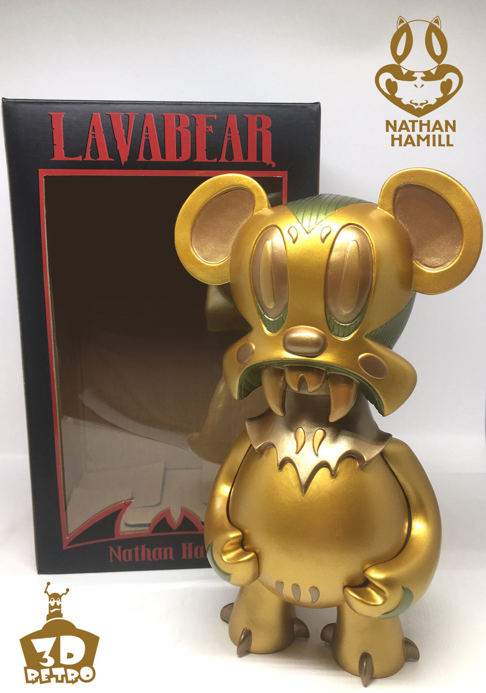 Lavabear: Bronze Ed.  Vinyl  8 inches  Limited to 75 pieces