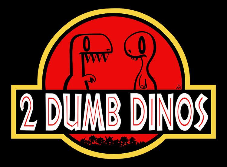 2 Dumb Dinos T-Shirt Design