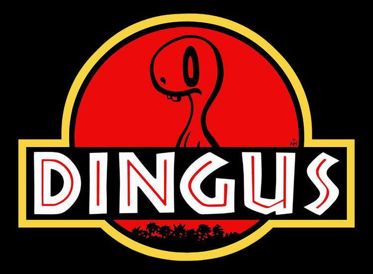 "2 Dumb Dinos ""Dingus"" T-Shirt Design"