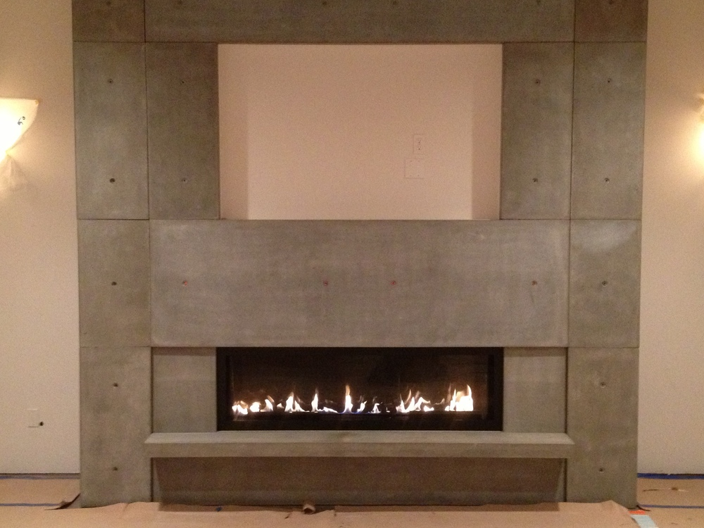 fireplace surrounds + mantels — alchemy concrete works